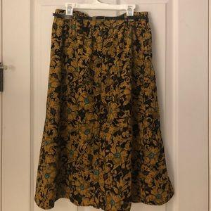 Forever 21 Contemporary Sunflower Maxi Skirt